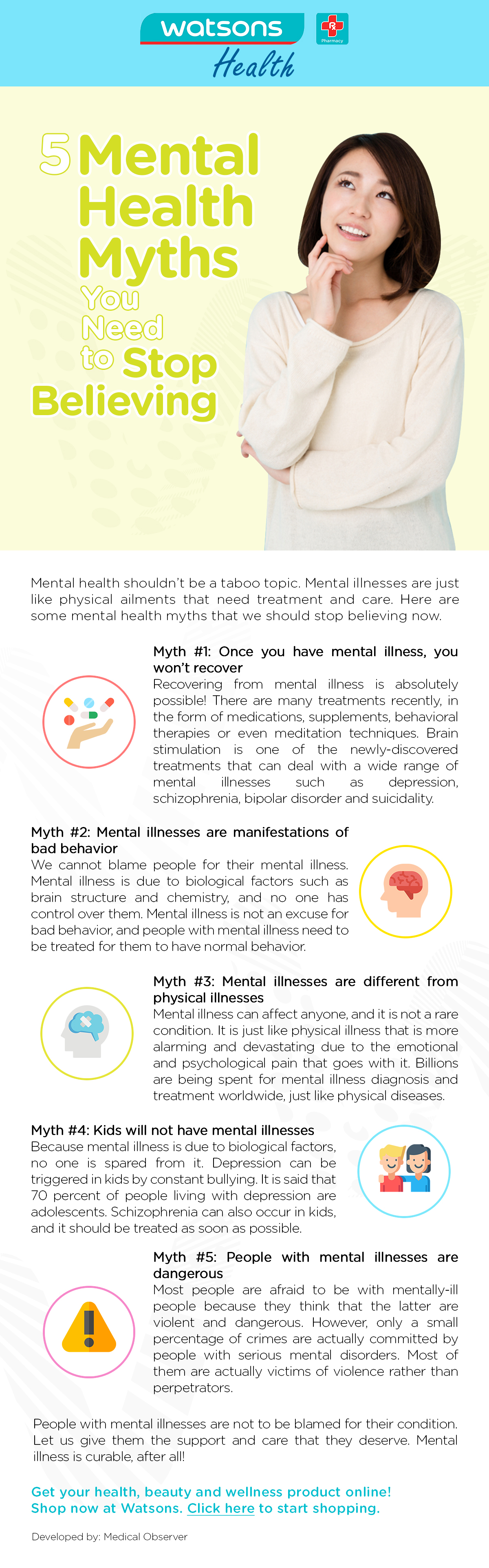 5 Mental Health Myths You Need To Stop Believing
